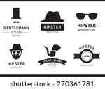 vector hipster labels  logo and ... | Shutterstock .eps vector #270361781