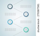 infographic numbered steps 5 | Shutterstock .eps vector #270387581