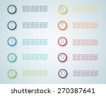 infographic numbered steps 1  | Shutterstock .eps vector #270387641