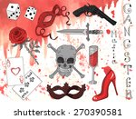 design set with hand drawn... | Shutterstock .eps vector #270390581