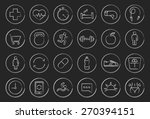 fitness linear icons set.... | Shutterstock .eps vector #270394151