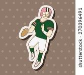 football player  cartoon... | Shutterstock . vector #270396491