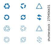 arrow icon set or recycle... | Shutterstock .eps vector #270406631
