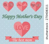 mothers day design over dotted... | Shutterstock .eps vector #270408311