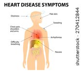 heart disease. signs and... | Shutterstock . vector #270412844