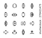 smart watch icons | Shutterstock .eps vector #270421475