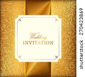 vector wedding card or... | Shutterstock .eps vector #270423869