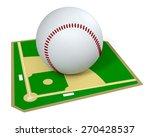 baseball field with a big ball  ... | Shutterstock . vector #270428537