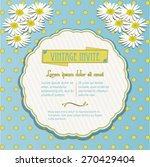 vintage invite with chamomile... | Shutterstock .eps vector #270429404