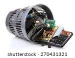 Electronic Waste Isolated On...
