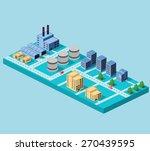 industrial buildings  factories ... | Shutterstock .eps vector #270439595