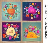 happy mother's day card set... | Shutterstock .eps vector #270441629
