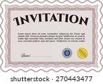 red horizontal invitation...   Shutterstock .eps vector #270443477
