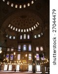 inside blue mosque in...   Shutterstock . vector #27044479