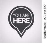 you are here icon | Shutterstock .eps vector #270445427