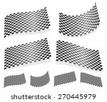 waving 12 checkered flags ... | Shutterstock .eps vector #270445979