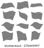 Waving 12 Checkered Flags ...