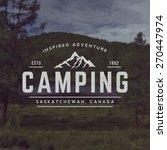 vector camping emblem. outdoor... | Shutterstock .eps vector #270447974