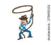 cowboy man lasso rope cartoon... | Shutterstock .eps vector #270450101