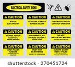 various caution sign ... | Shutterstock .eps vector #270451724