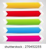 horizontal banner templates... | Shutterstock .eps vector #270452255