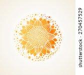 watercolor sunny mandala.... | Shutterstock .eps vector #270457529