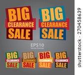 vector   big clearance sale... | Shutterstock .eps vector #270458639