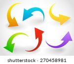 curved  bent colorful vector... | Shutterstock .eps vector #270458981
