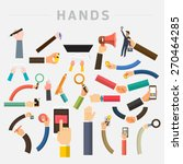vector set hands. mix hand hold ...