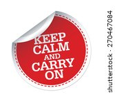 Keep Calm And Carry On Red...