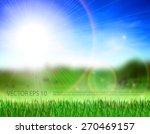 beautiful meadow  green grass ... | Shutterstock .eps vector #270469157