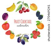watercolor fruit. bright... | Shutterstock .eps vector #270469241