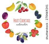 watercolor fruit. bright... | Shutterstock .eps vector #270469241