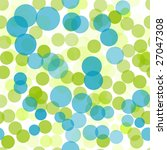 Green And Blue Polka Dots...