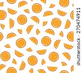 seamless orange slices pattern. ... | Shutterstock .eps vector #270474911