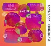 curriculum vitae creative... | Shutterstock .eps vector #270476201