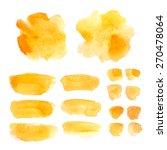 set of watercolor elements ... | Shutterstock .eps vector #270478064