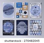 set of poster  flyer  brochure... | Shutterstock .eps vector #270482045