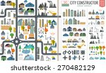 city map generator. city map... | Shutterstock .eps vector #270482129