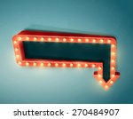 retro arrow with space for text ... | Shutterstock .eps vector #270484907