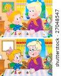 granny and granddaughter   Shutterstock . vector #27048547
