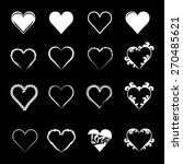 abstract hearth icon set   Shutterstock .eps vector #270485621