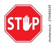 stop sign | Shutterstock .eps vector #270485639
