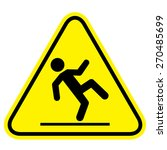 wet floor sign | Shutterstock .eps vector #270485699