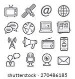 media icons | Shutterstock .eps vector #270486185