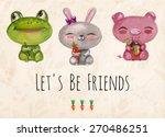 vector lovely cute ...   Shutterstock .eps vector #270486251