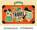 typographical retro grunge... | Shutterstock .eps vector #270486491