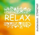 vector hand drawn relax... | Shutterstock .eps vector #270487469