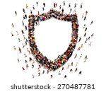people getting security or... | Shutterstock . vector #270487781