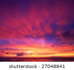 beautiful vibrant sunset sky ... | Shutterstock . vector #27048841